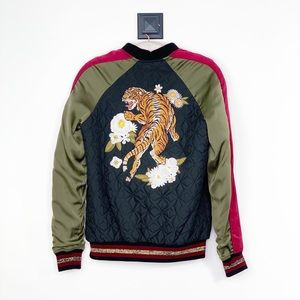 Zara Embroidered Tiger Bomber Jacket